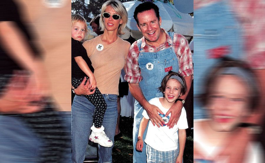 Brynn and Phil Hartman with their children Sean and Birgen