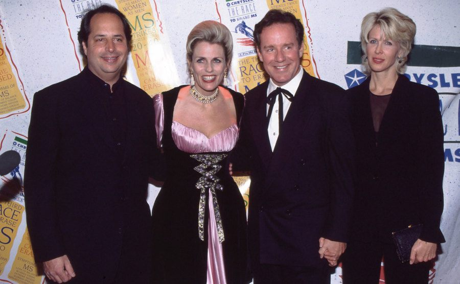 Jon Lovitz, Nancy Davis, Phil, and Brynn Hartman on the red carpet at a movie premiere