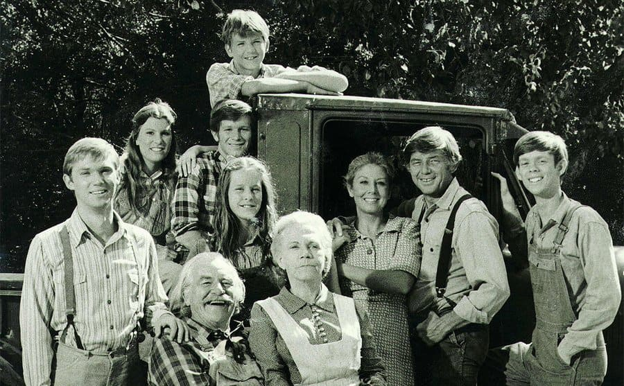 All members of The Waltons family