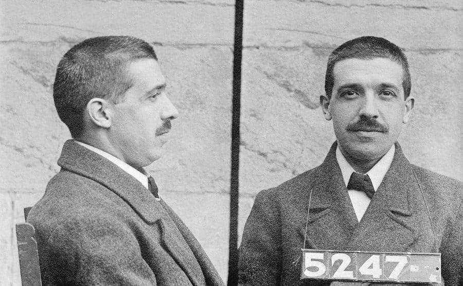 Charles Ponzi's mugshots