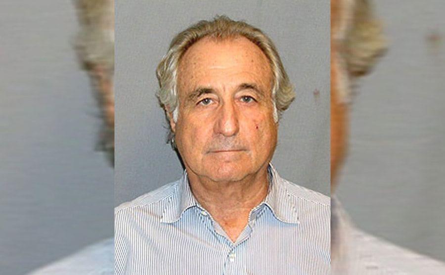 Bernie Madoff's mugshot circa 2008