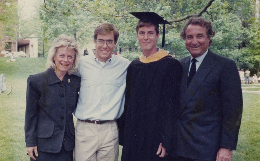 Bernie Madoff with his sons at one of their college graduations
