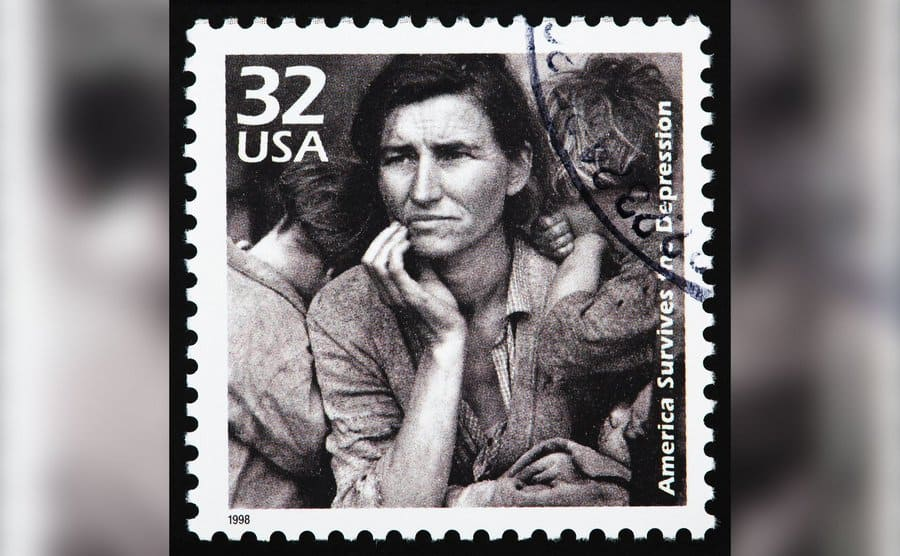 The Migrant Mother photo got turned into a stamp.