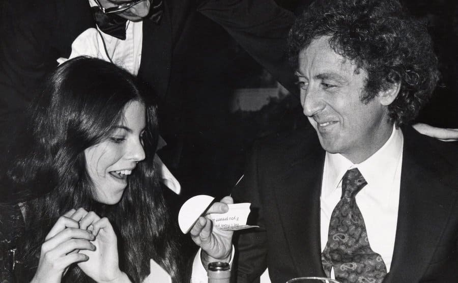 Katherine and Gene Wilder at a dinner event together
