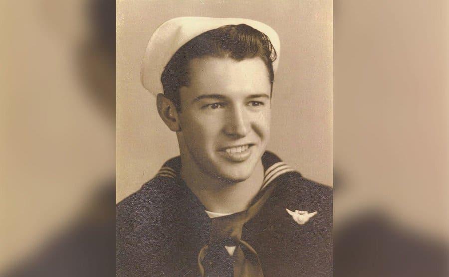 Calvin Graham in a sailor uniform.