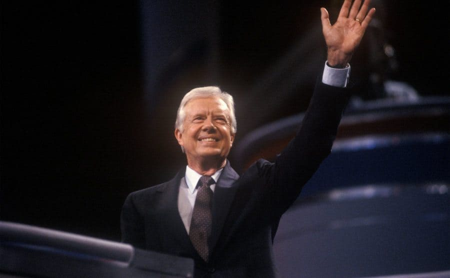 President Jimmy Carter at the Democratic National Convention