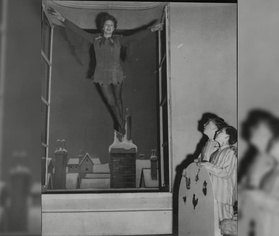 Margaret Lockwood as Peter Pan in 1949.