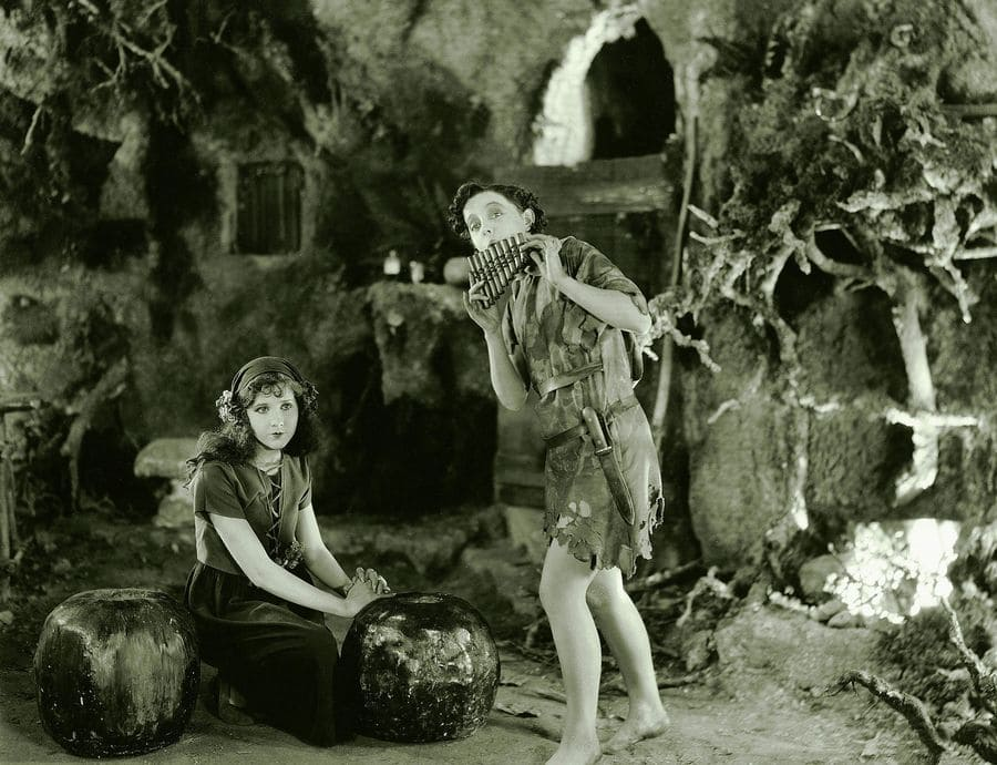 Mary Brian and Betty Bronson in Peter Pan, 1924.