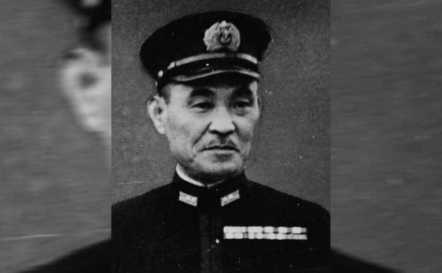 A portrait of Boshiro Hosogaya in uniform