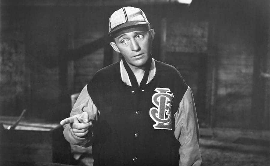 Bing Crosby on the set of Going My Way in 1944
