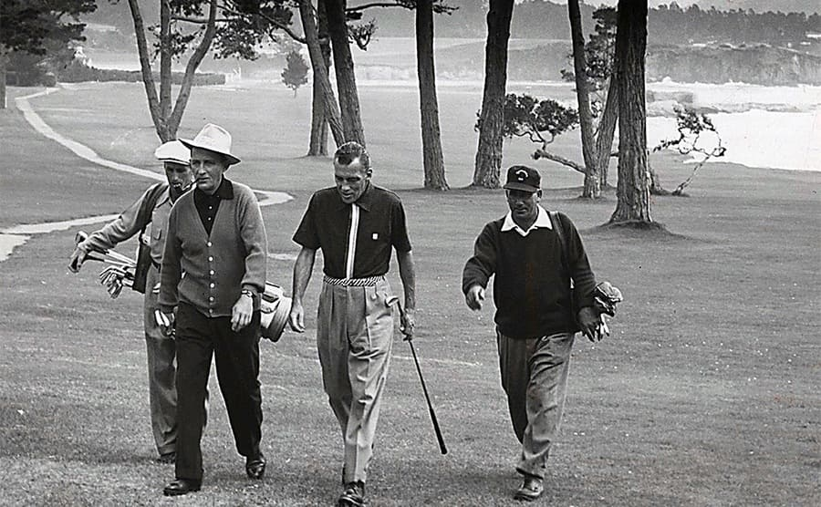 Bing Crosby out playing golf with his friends
