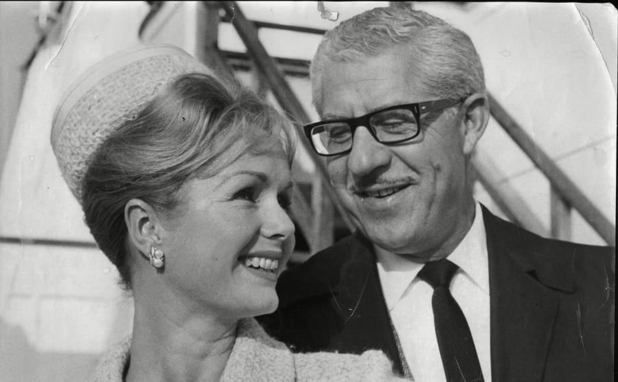 Debbie Reynolds and Harry Karl at an event together