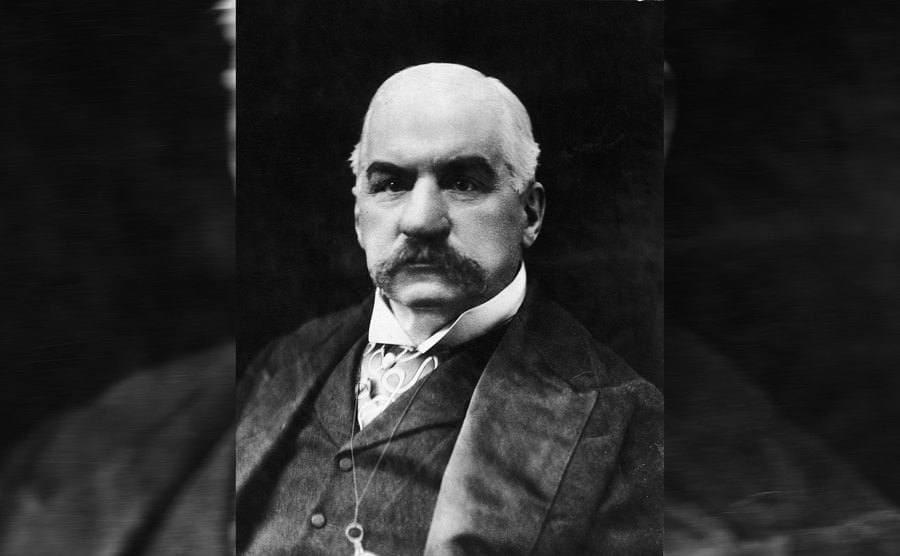 A portrait of JP Morgan Sr