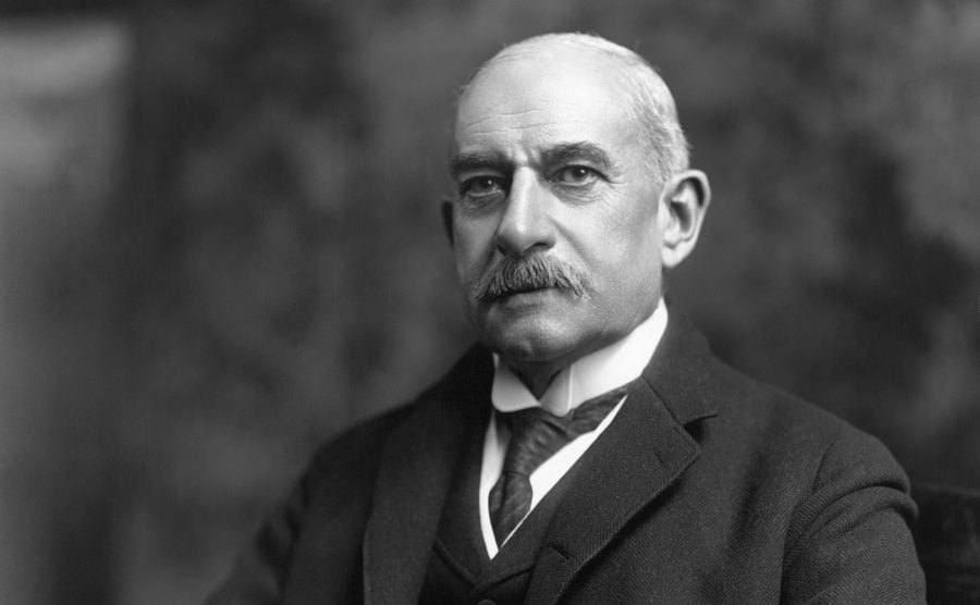 James Stillman posing in a portrait, President of National City Bank
