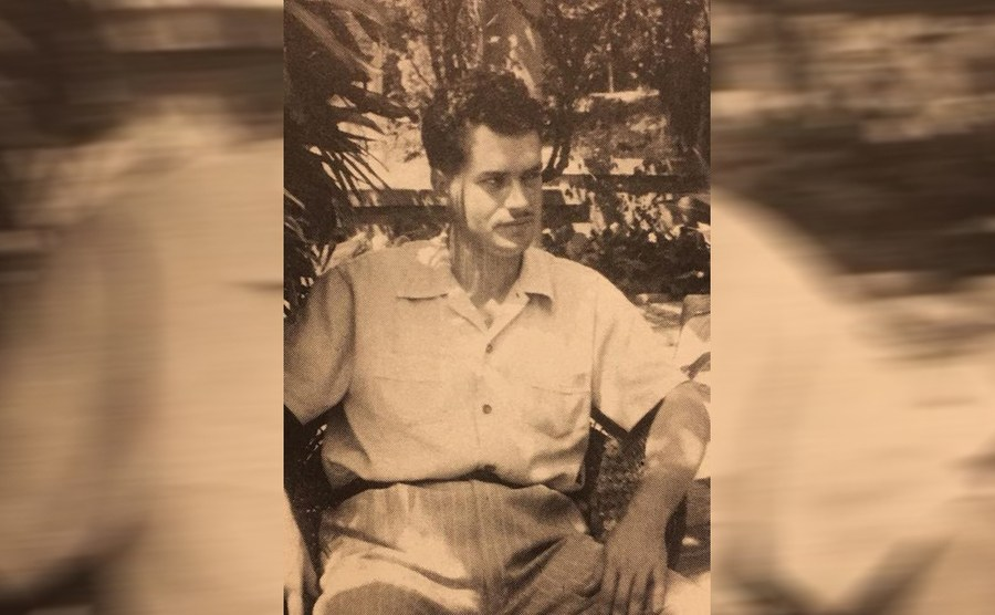 Jack Parsons sitting on an outdoor chair