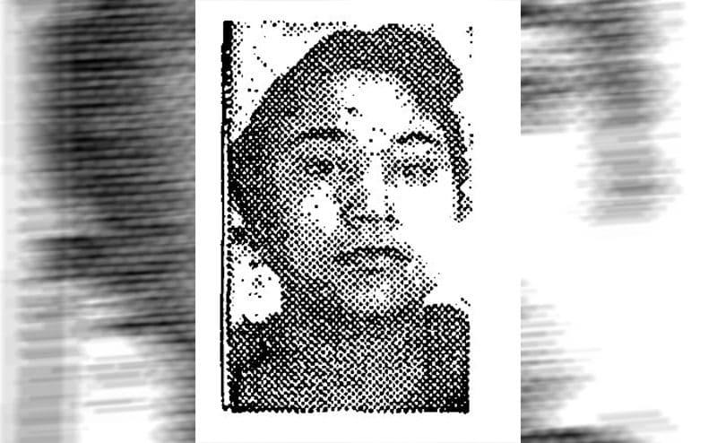 A newspaper illustration of Jannie Duncan