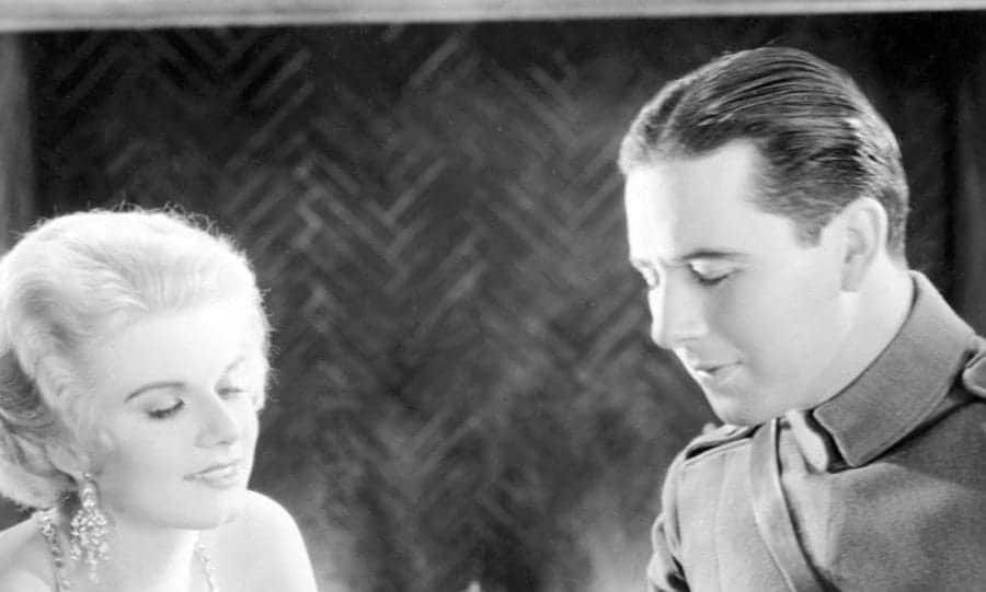 Actress Jean Harlow and Ben Lyon in a scene from the movie
