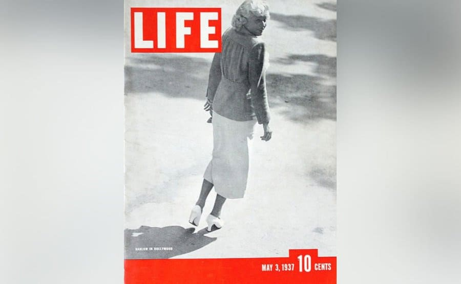 Jean Harlow on the cover of Life Magazine.