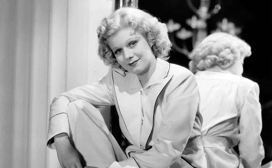 Actress Jean Harlow in a scene from the movie
