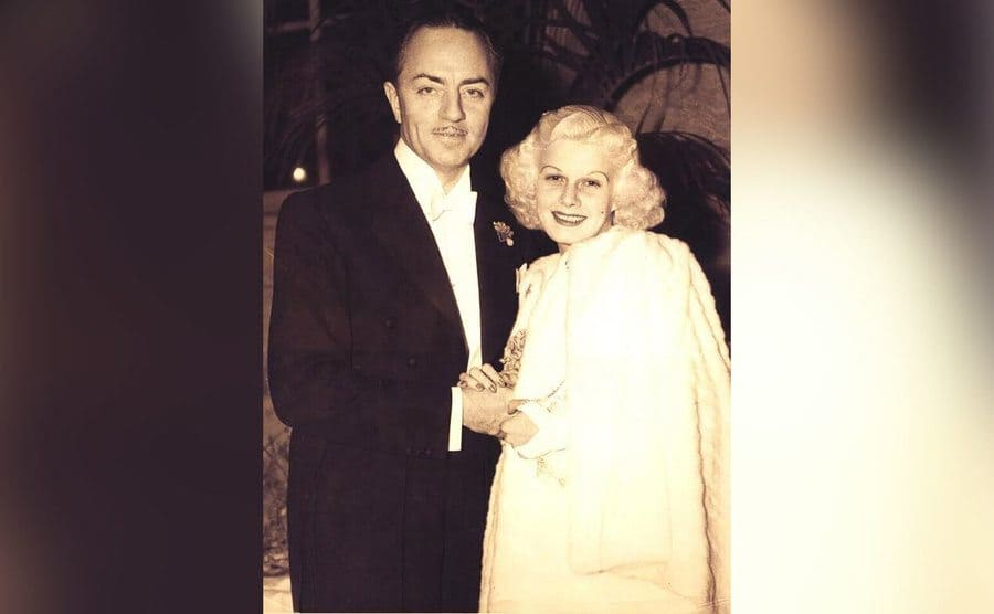 William Powell and Jean Harlow at the 1935 Academy awards.