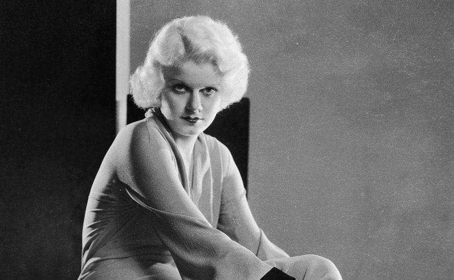 American actress Jean Harlow posing for a photo.