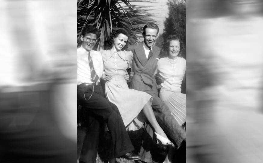 Richard, Jean, Eddie, and Betsy Spangler dancing together
