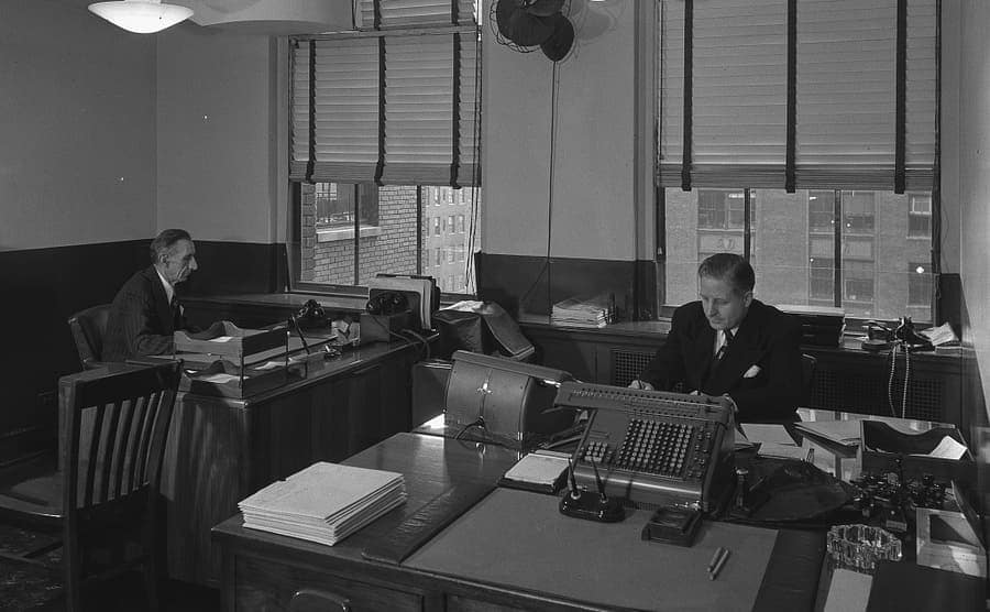Men at work in an office