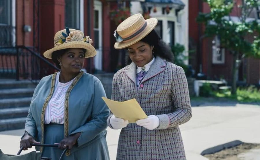 Octavia Spencer as Madam C.J. Walker with Tiffany Haddish as A'Lelia Walker in Self Made