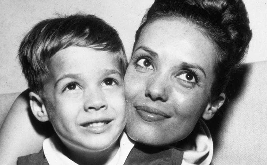 Christian Devi Brando as a young boy with his mother, Anna Kashfi