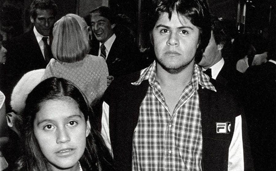 Rebecca Brando and Miko Brando posing when they were younger