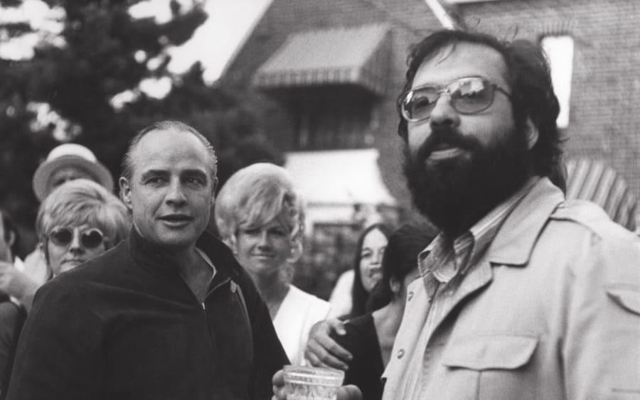 Marlon Brando, Francis Ford Coppola, 1972.