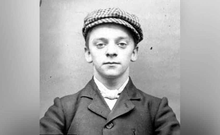 Harry Fowles' mug shot at 19 years old.