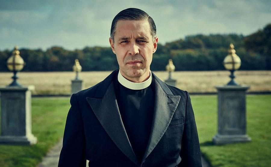 Paddy Considine in the role of Father Hughes.