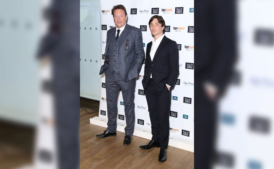 Steven Knight and Cillian Murphy Packy Lee attend BBC Two's drama