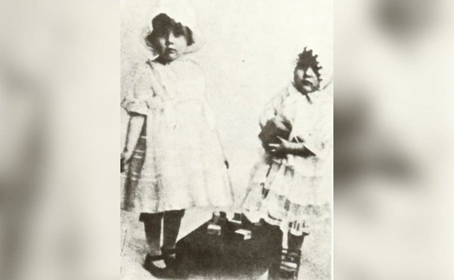 An old photograph of Olive and Joan as little girls.