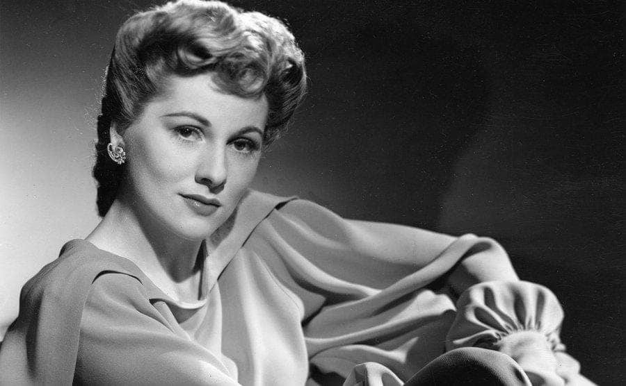 Actress Joan Fontaine poses for a studio publicity photo in Hollywood around 1940.