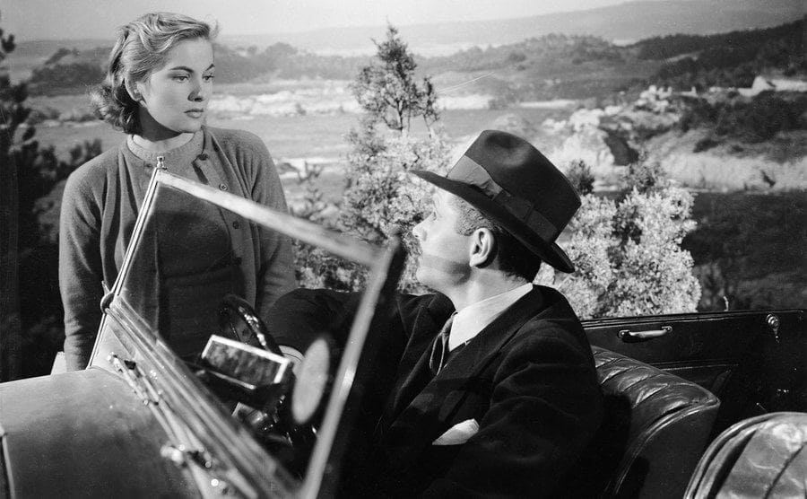 Laurence Olivier and Joan Fontaine playing Max and Mrs de Winter in Hitchcock's classic 'Rebecca'.