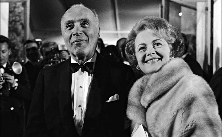 Actress Olivia de Havilland and actor Charles Boyer at Cannes Film Festival in Cannes, France on May 24, 1965.