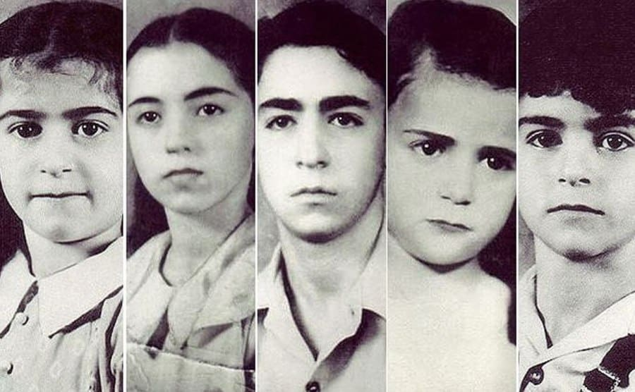 Photographs of the five Sodder children who were taken