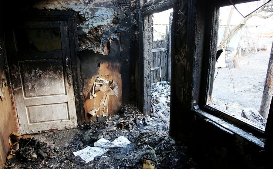 A house burned to ashes