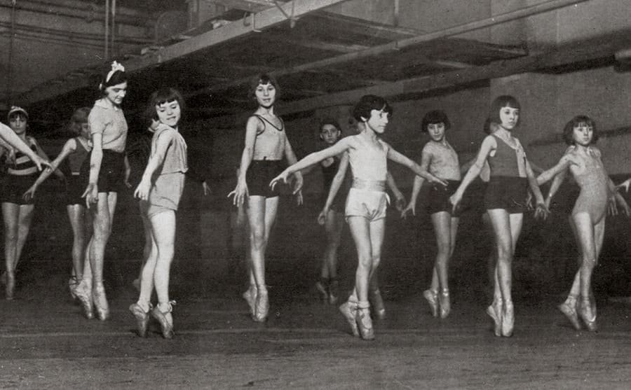 Young girls doing ballet