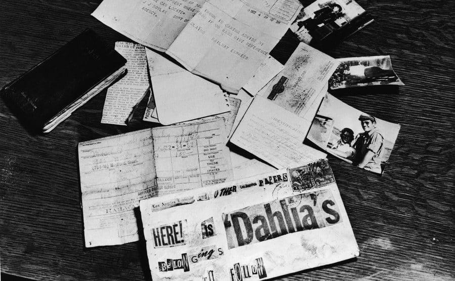 Evidence concerning the murder of American aspiring actress and murder victim Elizabeth Short.
