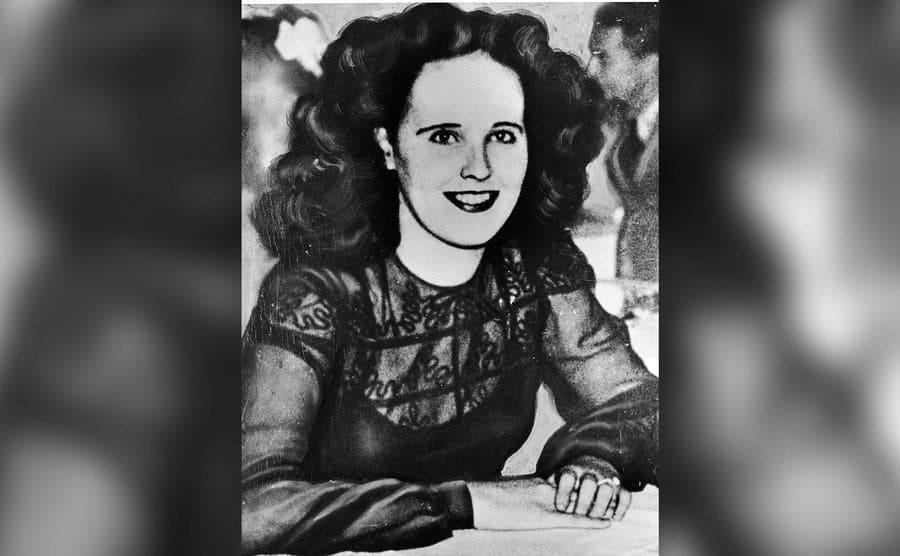A portrait of aspiring American actress and murder victim Elizabeth Short