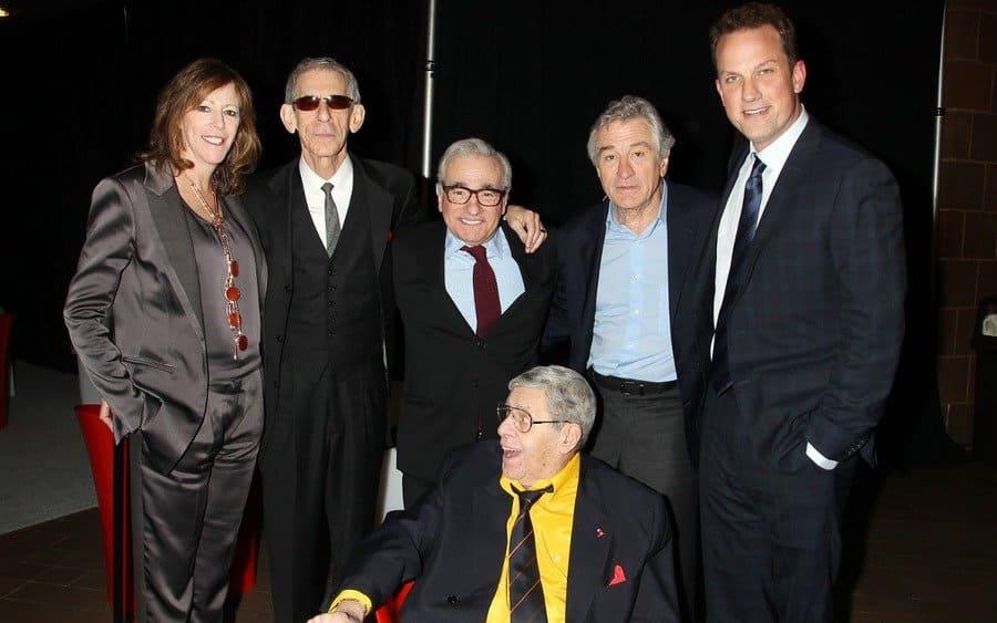 Jane Rosenthal, Richard Belzer, Martin Scorsese, Robert De Niro, Jerry Lewis