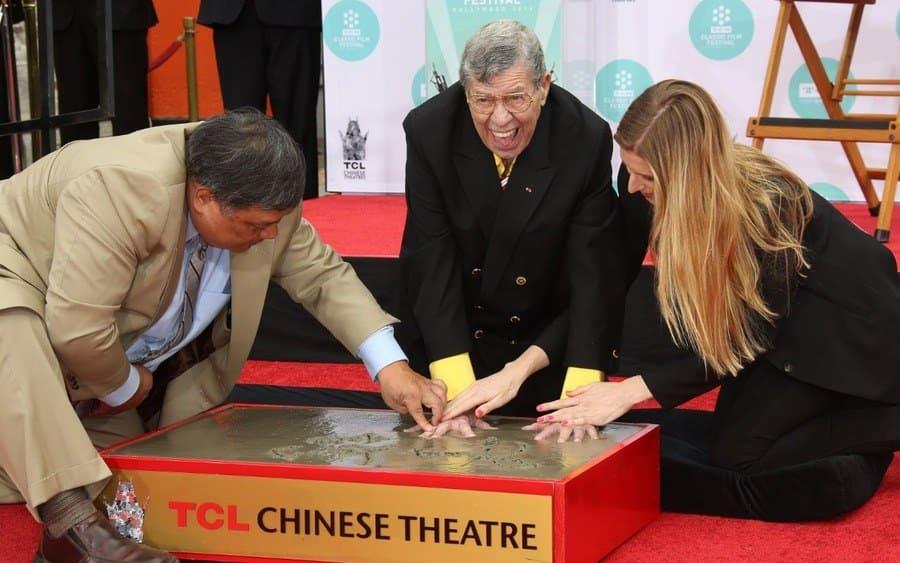 Jerry Lewis handprint ceremony, Los Angeles