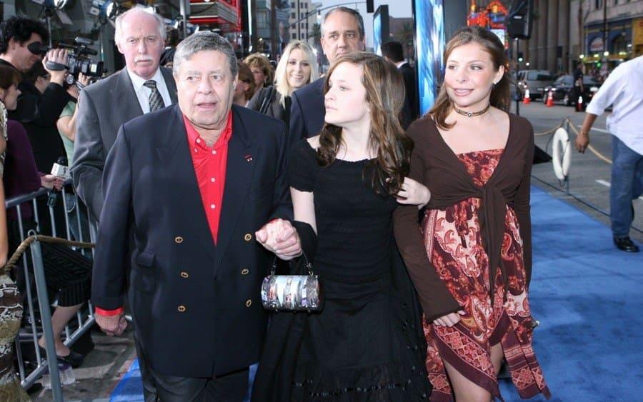 Jerry Lewis and daughter Dina