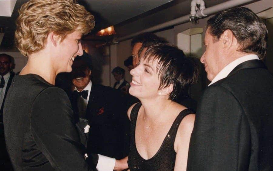 Diana Princess of Wales, Liza Minelli, and Jerry Lewis