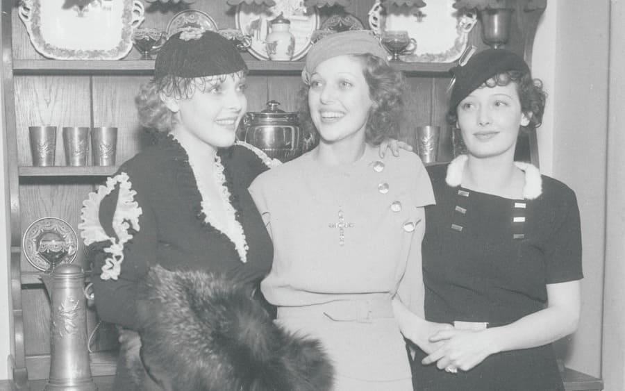 Sally Blane, Loretta Young, and Polly Ann Young