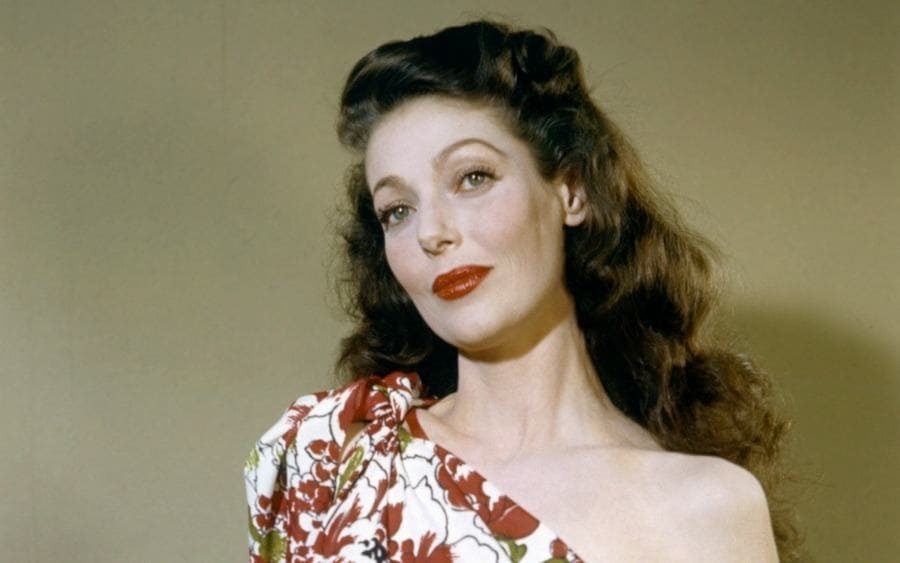 American actress Loretta Young posing for the camera