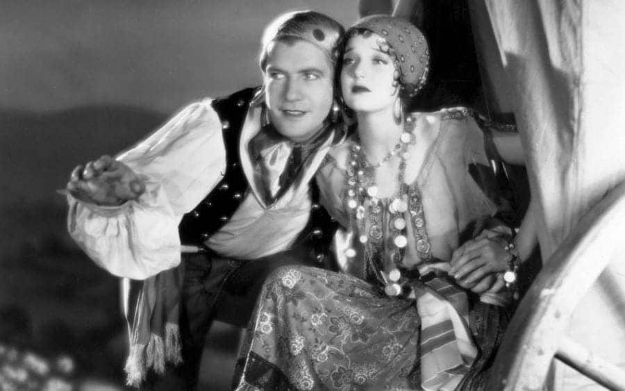 Grant Withers and Loretta Young star in 'Gypsy Trail'.